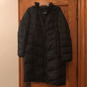 Lands End long small black puffer, barely worn!